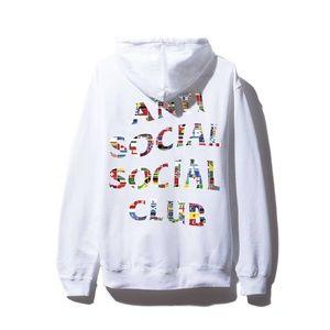 Anti Social Social Club Flag White Hoodie